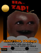Annoying orange lost galaxy poster 8
