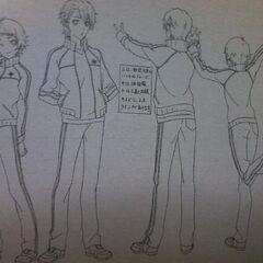 A character design of Naoya Teshigawara and <a href=