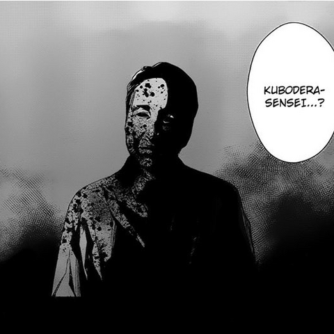 Ghost Kubodera in Kouichi's guilt driven nightmare