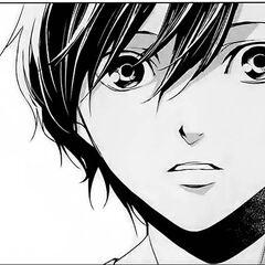 Kouichi astonished in the manga