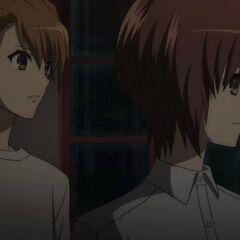Naoya and Yuuya at the inn.
