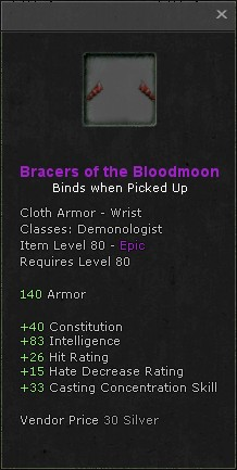 Bracers of the bloodmoon