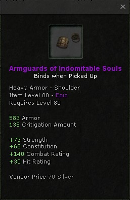 Armguards of indomitable souls