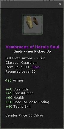 Vambraces of heroic soul