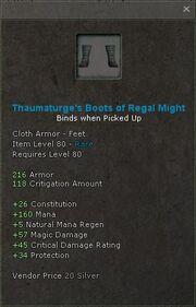 Thaumaturges boots of regal might