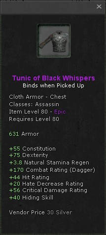 Tunic of black whispers