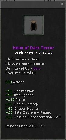 Helm of dark terror