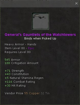 Generals gauntlets of the watchtowers