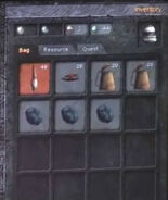 Crafting inventory
