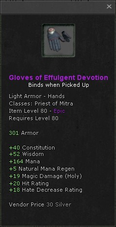 Gloves of effulgent devotion