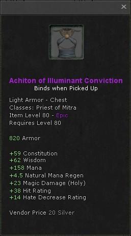 Achiton of illuminant conviction