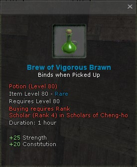 Brew of vigorous brawn