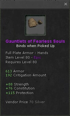 Gauntlets of fearless souls