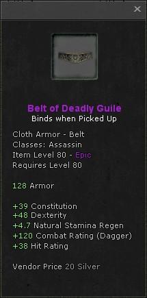 Belt of deadly guile