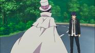 Rin talking with Mephisto