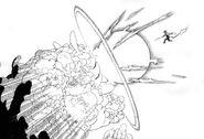 Rin attacks Impure King