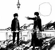 Yukio blames Rin for Fujimoto's death
