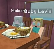 Levin and malachi eating together 10