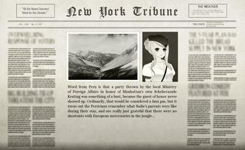 Roland Peruvian Adventure Newspaper