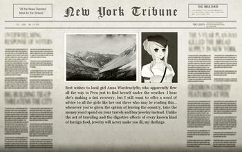 Sterling Peruvian Adventure Newspaper