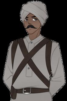 Raj Soldier Serious