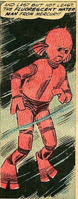 Fluorescent Water-Man
