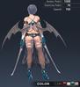 Default Ridika 3D In-Game Model Back Colour 3