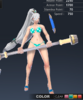 Summer Valle 3D In-Game Model Front Colour 2