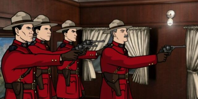 File:Mounties with Guns Drawn.JPG