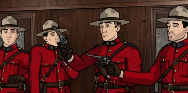 File:Fake Mounties getting sprayed.JPG