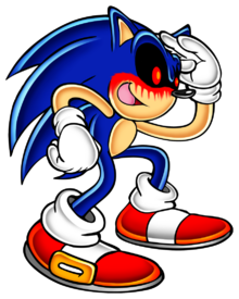 Sonic adventure sonic exe by pokeman25-d85i5xv