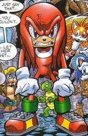 Knuckles angry