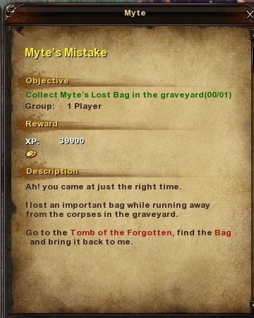 165 Myte's Mistake Grassy Fields Quest