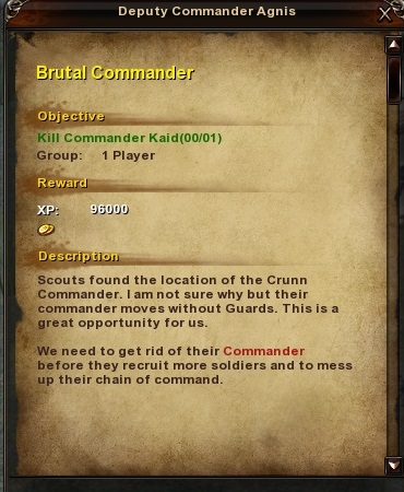 171 Brutal Commander Grassy Fields Quest