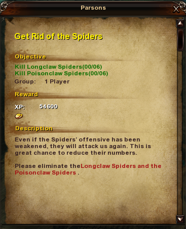 87 Get Rid of the Spiders