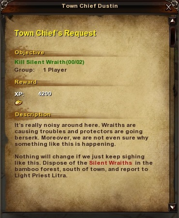 1 Town Chief's Request