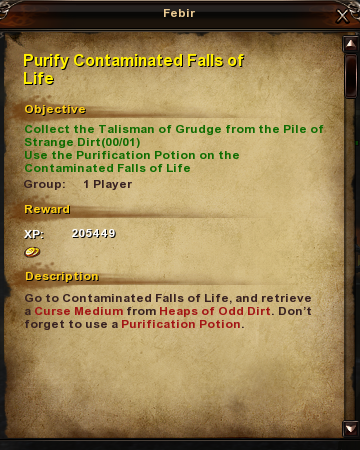 64 Purify Contaminated Falls of Life