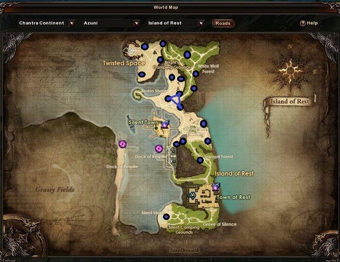 Island of Rest Zinc Ore Locations