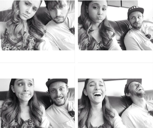 File:Ariana Grande & Jones Crow making weird faces (4 pics).png