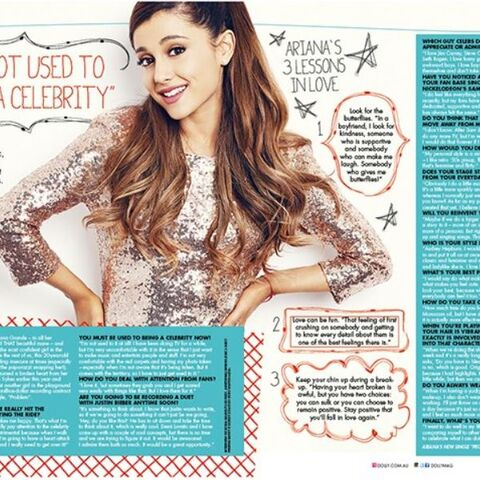 Ariana's interview with the magazine