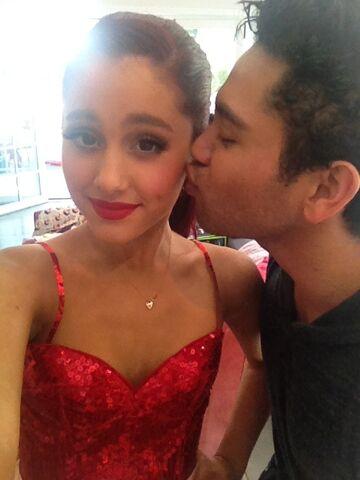 File:Isaac kissing ari on the cheek old.jpg