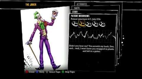 Batman Arkham Asylum - Patient Interview Tapes - The Joker