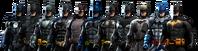 Arkham-batsuits