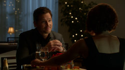 Alex Danvers and Maxwell Lord at dinner