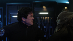 Martian Manhunter fighting Jeremiah Danvers