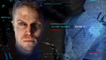 A.T.O.M. Exosuit running facial recognition software on the Arrow, getting Oliver Queen as the result.png