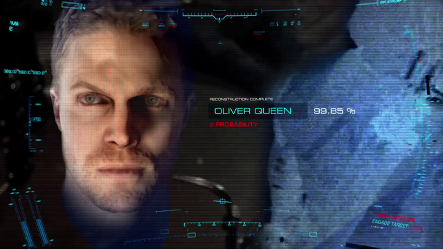 File:A.T.O.M. Exosuit running facial recognition software on the Arrow, getting Oliver Queen as the result.png