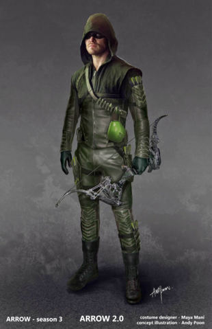 File:The Arrow season 3 concept artwork - boxing glove arrow.png