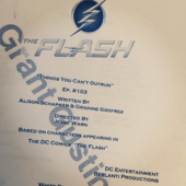 The Flash script title page - Things You Can't Outrun.png