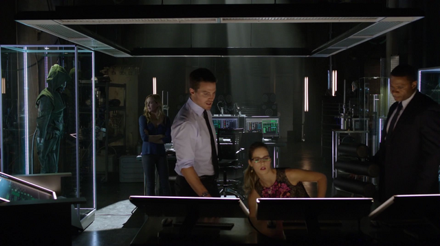 File:Oliver brings Sara to the Arrowcave.png